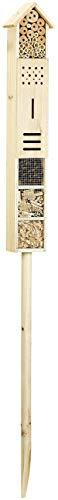 Royal Gardineer Bienenhotel: Insektenhotel Flip mit Erdspieß als Nisthilfe für Nützlinge, 160 cm (Nistkästen)
