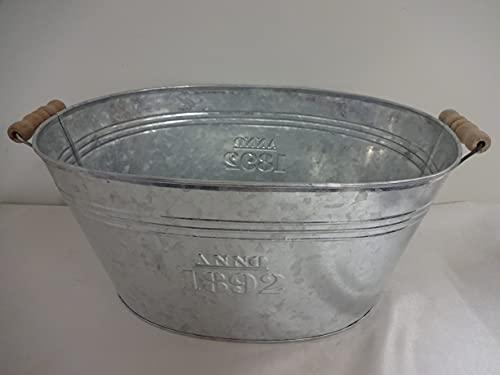 Zinkwanne ~ 1892 ~ Landhausstil Wanne zum bepflanzen Pflanzkübel Pflanztopf