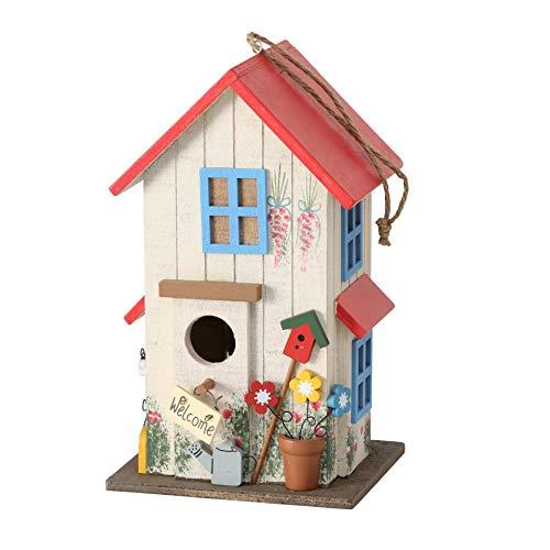 Vogelhaus Vogelhäuschen *Rot* Nistkasten Holz Deko H26cm