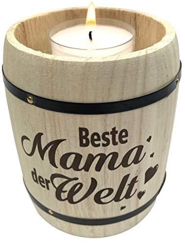 endlos schenken Geschenk für Mama Teelichthalter - Geschenkidee Weihnachten - Beste Mama der Welt