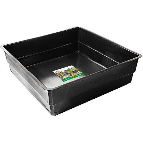 Heissner: Teichbecken eckig 150 x 150 x 45 cm | PE-Fertigteich für 900 Liter | quadratische Teich-Wanne | Kleine Teichschale für wenig Platz