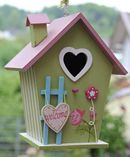 Nistkasten-Vogelhaus-Vogelhäuschen Vogelhaus Vogelhäuser Vogelhäuschen-aus Holz Nistkästen, Vogelvilla, Futterhaus sauberste Verarbeitung-Vogelhaus Garten Deko (N13)