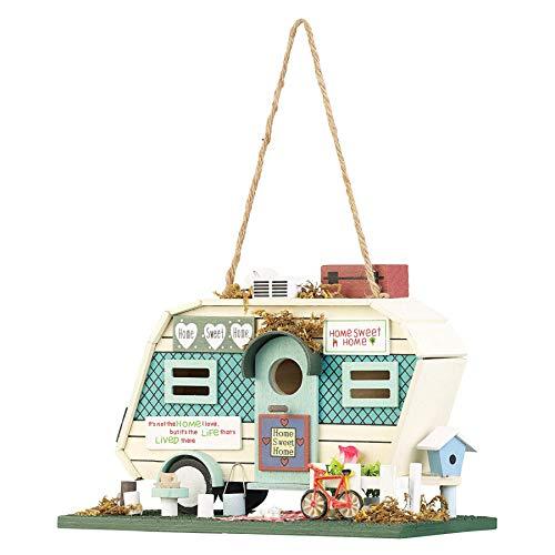 Monsterzeug Nistkasten für Vögel, Vogelhaus als Cooles Wohnmobil, Vogelvilla als Garten-Dekoration, Vogelfutterspender