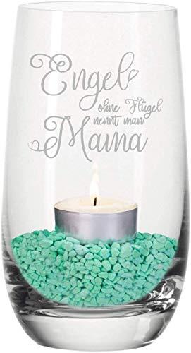 Geschenke 24: Windlicht - Engel ohne Flügel nennt Man Mama - dekoratives Teelicht zum Muttertag - schöne Geschenkidee für Mütter Tivoli