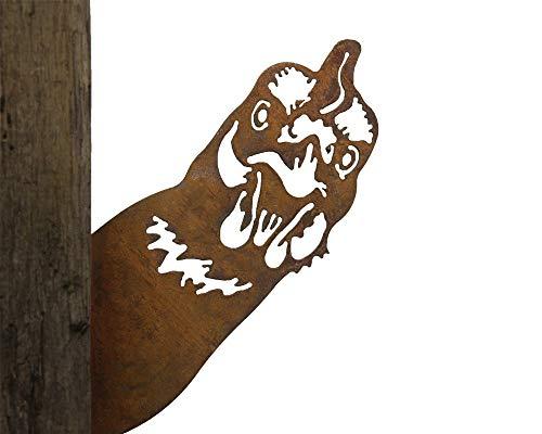 Gartenstecker Baumstecker Metall Rost rostige Gartendeko Edelrost Hahn Henne Hühner rostige Deko