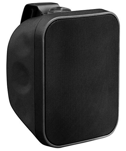 Pronomic OLS-5 BK DJ PA Outdoor-Lautsprecher für Garten, Terrasse, Restaurant (80 Watt, Schutzart IP56, 8 Ohm, 5,25' Woofer) schwarz