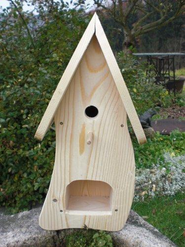 Dekorativer Nistkasten(N1)-mit Vogelfutterhaus -Vogelhaus-Vogelhäuschen-sauberste Verarbeitung-Vogelhaus Garten Deko