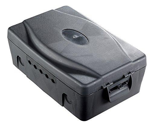 Masterplug Wetterfeste Box schwarz IP54 Outdoor Steckdose Garten Power