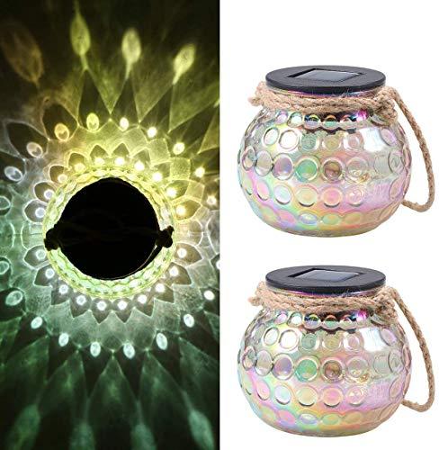 Solar Laterne Glas,Solarleuchte Glas Tomshine