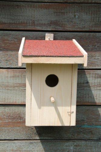 Nistkasten mit Bitumendach (N5) Vogelhaus für Kohlmeise, Blaumeise, Feldsperling und Trauerschnäpper