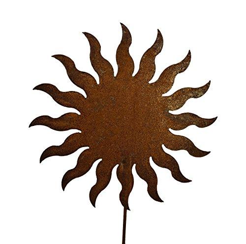 Vosteen Gartenstecker Dekostecker Edelrost - Gartendeko Rost - Motiv Sonne