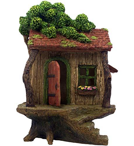 PRETMANNS Feengartenhaus - großes Feenbaumhaus mit einer Tür zum Öffnen - 22,9 cm hoch - Feengarten-Zubehör