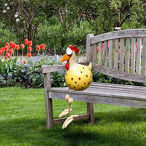 Keramik Huhn Gartendeko, Tierfigur Gartenstecker Keramikfigur Handarbeit Ornament, Gartendeko Huhn Deko,Handarbeit Gartenstatue Dekorative Henne Huhn Gartenstecker,Gartenfigur Gartendekoration