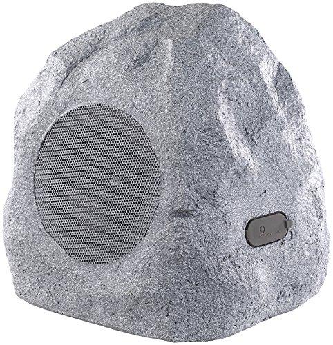 auvisio Gartenlautsprecher: Garten- und Outdoor-Lautsprecher im Stein-Design, Bluetooth, 30W, IPX4 (Gartenlautsprecher Bluetooth)