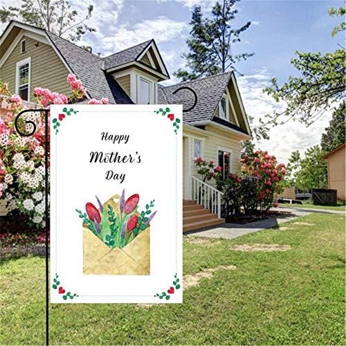 Muttertag Garten Flagge, Glückliche Muttertag Garten Flagge, Vertikale Doppelseitige Blumen Florale Flagge, Muttertag Floral Kleine Gartenflagge, Für Home Garten Yard Rasen Patio, 30 X 45 Cm