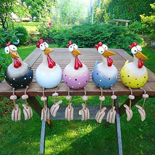 Keramik Huhn Gartendeko,Tierfigur Gartenstecker Keramikfigur Handarbeit Ornament, Gartendeko Huhn Deko, Gartenstatue Dekorative Henne Huhn Gartenstecker,Gartenfigur Gartendekoration (A_5 Stück)