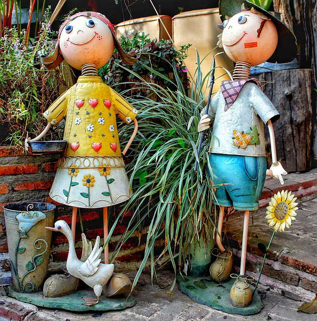Lustige XXL Gartenfiguren aus Blech