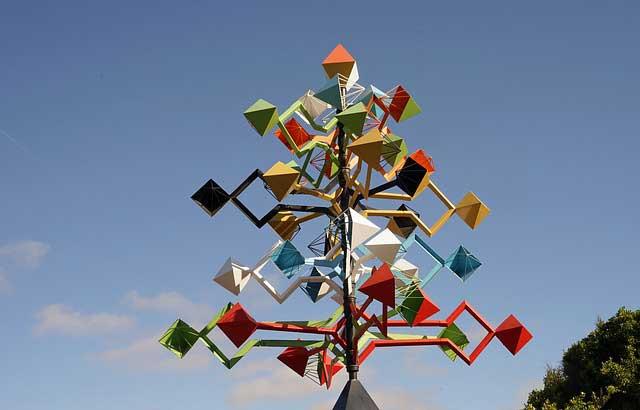 Windspiel Skulptur