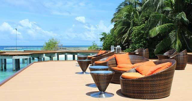 Lounge Polyrattan Sitzgruppen am Meer