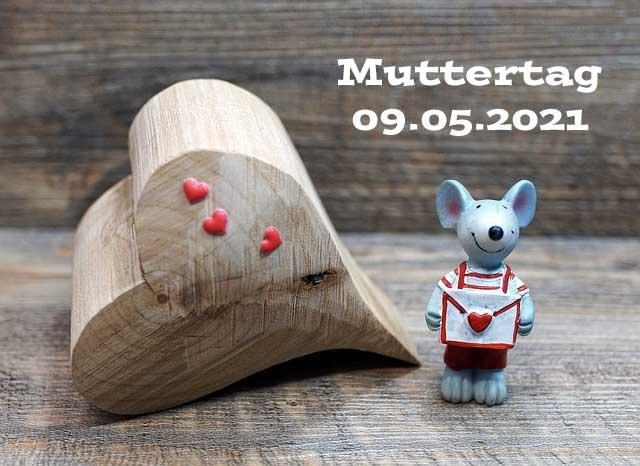 Maus mit Herz für Muttertag