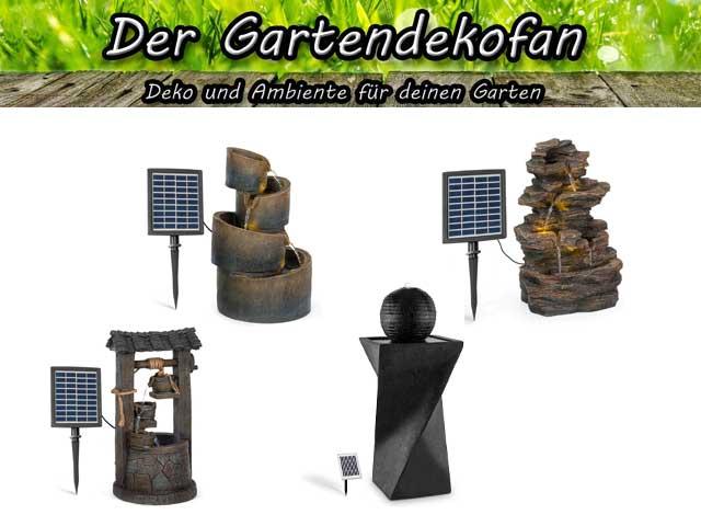 Vier Solarbrunnen Beispiele